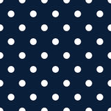 Retro pattern with white polka dots on dark blue background. Retro seamless pattern for backgrounds, blogs, www, scrapbooks, party or baby shower invitations royalty free illustration