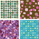 Retro Patterns. Four vibrant retro patterns for backgrounds or design detail stock illustration