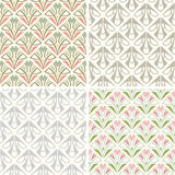 Retro patterns. Set of four simple retro patterns stock illustration