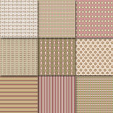 Retro patterns. Vector illustration of different patterns Stock Photos