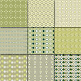Retro patterns. Vector illustration of different patterns Stock Photo