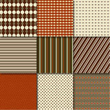 Retro patterns. Vector illustration of different patterns Stock Images