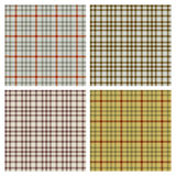 Retro Patterns. Four different retro patterns for use in backgrounds vector illustration