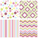 Retro patterns Royalty Free Stock Photos