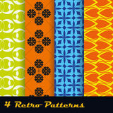 4 Retro Patterns Stock Photography