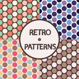 4 retro patterns. 4 seamless retro patterns. Vector illustration royalty free illustration