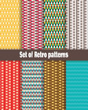 8 retro patterns. royalty free illustration