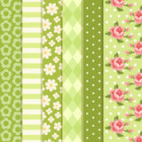 Retro patterns 2. Set of retro patterns in shabby chic style Stock Images