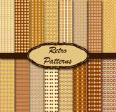 Retro patterns. Vector illustration of different patterns Royalty Free Stock Photo