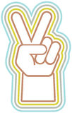 Retro Peace Hand Royalty Free Stock Photo