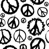 Retro Peace symbol seamless Royalty Free Stock Photography
