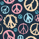 Retro Peace symbol seamless Stock Image