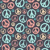 Retro Peace symbol seamless Stock Images