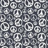 Retro Peace symbol seamless Royalty Free Stock Image