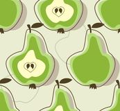 Retro pear background Stock Image