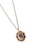 Retro pendant on a gold chain Stock Photo