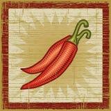 Retro pepe di peperoncino rosso Immagine Stock Libera da Diritti