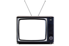 Retro percorso di residuo della potatura meccanica isolato TV dell'ombra. Fotografia Stock