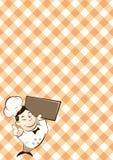 Retro personaggio dei cartoni animati del cuoco unico Immagine Stock Libera da Diritti