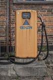 Retro Petrol Pump. HELSINGOR, DENMARK - MARCH 24, 2019: Retro petrol pump at a retro filling station in Helsingor, Denmark royalty free stock photos