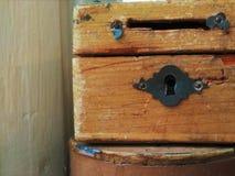 Retro petto di legno immagini stock libere da diritti