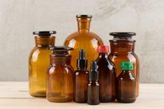Free Retro Pharmacy - Vintage Pharmacy Bottles On Wooden Board Royalty Free Stock Photography - 154242787