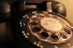 Retro Phone. Rotary Dial Closeup Royalty Free Stock Photo
