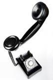 Retro Phone. Unique perspective of retro phone on white background Stock Image