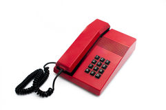 Retro Phone. Red phone isolated on white background Royalty Free Stock Image