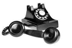 Retro Phone. Vintage retro rotary telephone on white background royalty free stock images