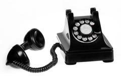 Retro Phone. Vintage retro rotary telephone on white background royalty free stock image