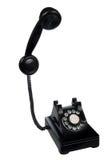 Retro Phone. Vintage retro rotary telephone on white background stock photo