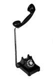 Retro Phone. Vintage retro rotary telephone on white background stock photography