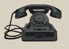 The retro phone Stock Image