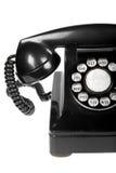 Retro Phone Close-up. Close-up of vintage retro rotary telephone on white background stock image