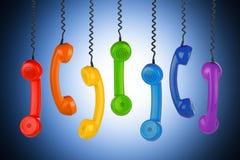 Retro phone concept Stock Photos