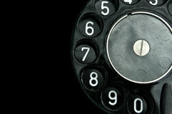 Phone disk dial retro Stock Photography