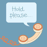 Retro phone handle with bubble Stock Images