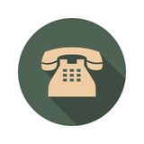 Retro phone Icon with Long Shadows Royalty Free Stock Images