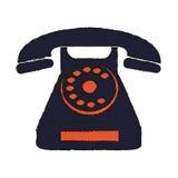 Retro phone icon Stock Images
