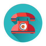 Retro phone icon Royalty Free Stock Image