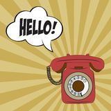 Retro phone Royalty Free Stock Photography