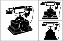 Retro Phone Isolated On White Vector Stock Images