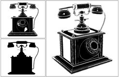 Retro Phone Isolated On White Vector Royalty Free Stock Images