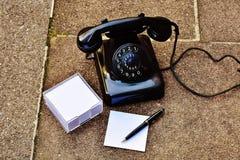 Retro phone returns us the spirit of that time. stock photo