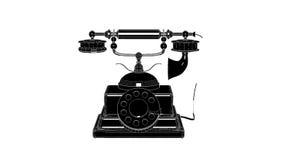 Retro Phone Rotation Animation stock video