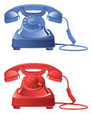 Retro phone icons Royalty Free Stock Photos
