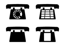 Retro phones Royalty Free Stock Photography
