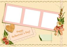 Retro photo album - Happy Valentine's Day Royalty Free Stock Photos
