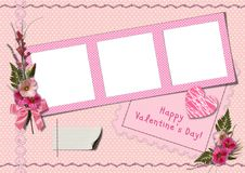 Retro photo album - Happy Valentine's Day Royalty Free Stock Photo
